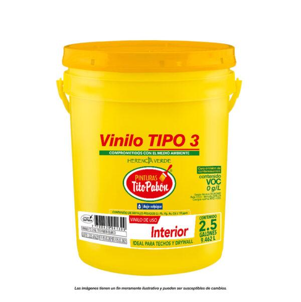 Vinilo tipo 3 balde